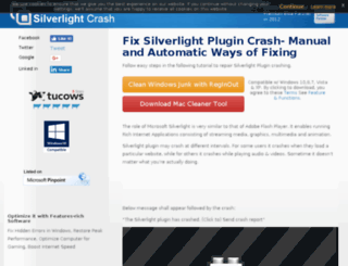 silverlightcrash.com screenshot