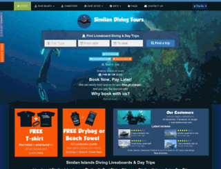 similandivingtours.com screenshot