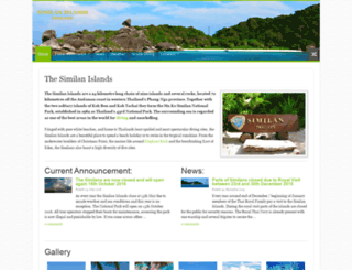similanislands.org screenshot