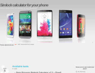 simlockcalculators.com screenshot