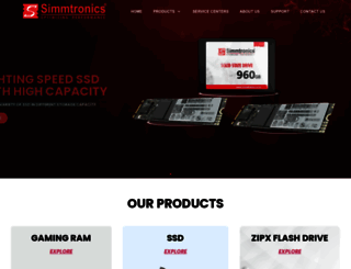 simmtronics.co.in screenshot