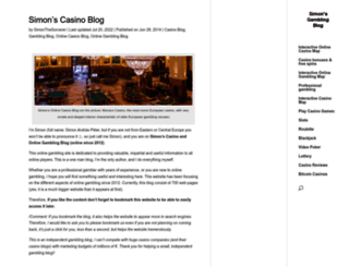 simonsblogpark.com screenshot