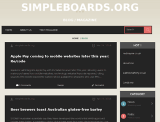 simpleboards.org screenshot