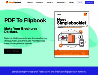 simplebooklet.com screenshot