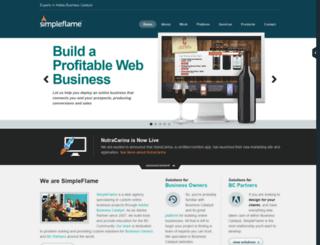 simpleflame.com screenshot
