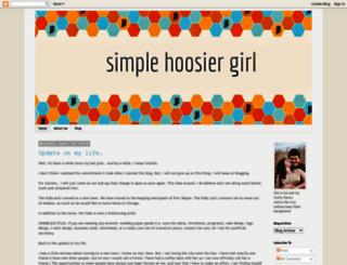 simplehoosiergirl.blogspot.com screenshot
