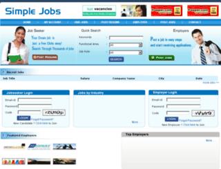 simplejobs.co.in screenshot