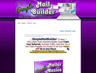 simplemailbuilder.com screenshot