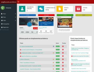 simplementecuarteteros.net screenshot