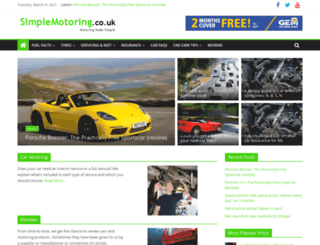 simplemotoring.co.uk screenshot