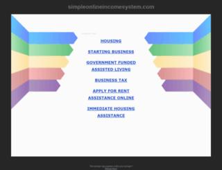 simpleonlineincomesystem.com screenshot