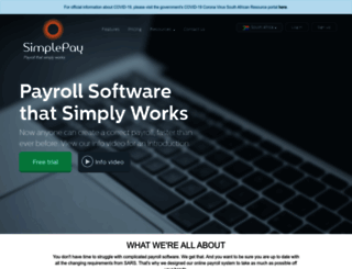 simplepay.co.za screenshot