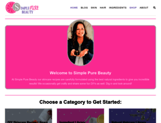 simplepurebeauty.com screenshot