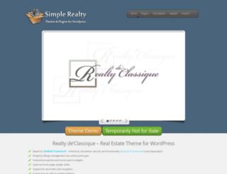 simplerealtytheme.com screenshot