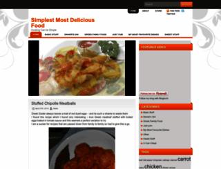 simplestmostdeliciousfood.com screenshot