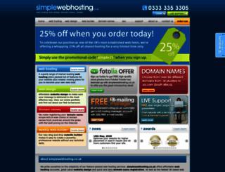 simplewebserver.co.uk screenshot