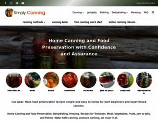 simplycanning.com screenshot
