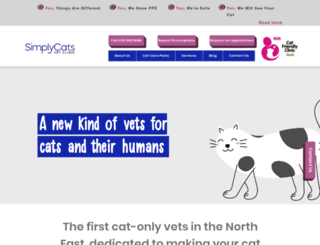 simplycats.net screenshot