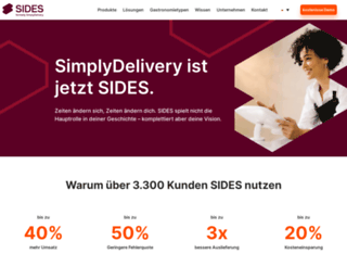 simplydelivery.de screenshot