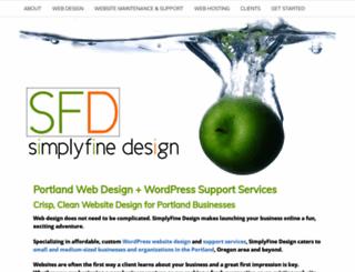 simplyfinedesign.com screenshot