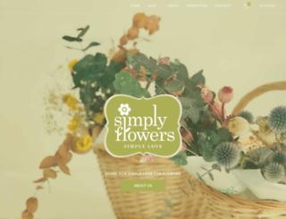 simplyflowers.com.sg screenshot