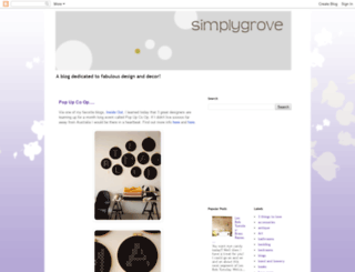 simplygrove.blogspot.com screenshot