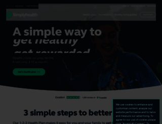 simplyhealth.co.uk screenshot