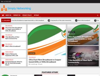 simplynetworking.org screenshot