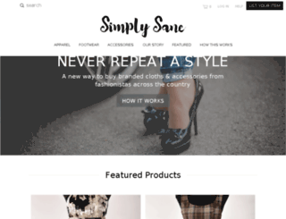 simplysane.com screenshot