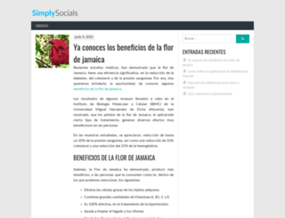 simplysocials.es screenshot