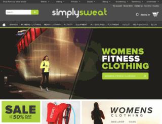 simplysweat.com screenshot