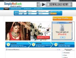 simplywedlock.com screenshot