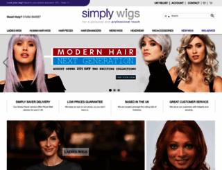 simplywigs.co.uk screenshot