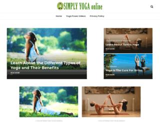 simplyyogaonline.com screenshot