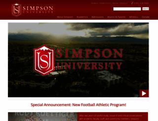 simpsonu.edu screenshot