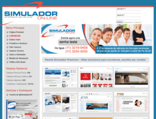 simuladoronline.com screenshot