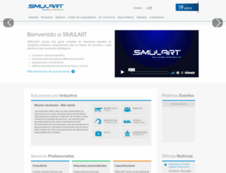 simulart.cl screenshot