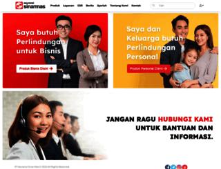 sinarmas.co.id screenshot