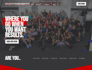 sincitycrossfit.com screenshot