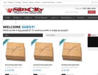 sincitysportscards.com screenshot
