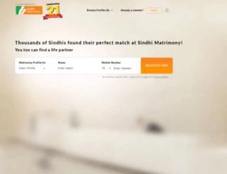sindhimatrimony.com screenshot