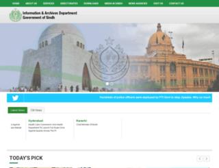 sindhinformation.gos.pk screenshot