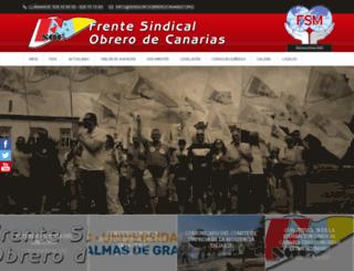 sindicatoobrerocanario.org screenshot