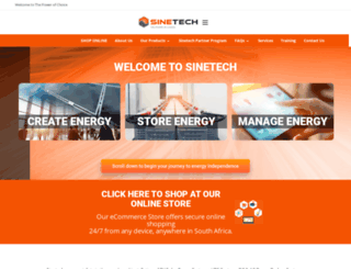 sinetech.co.za screenshot