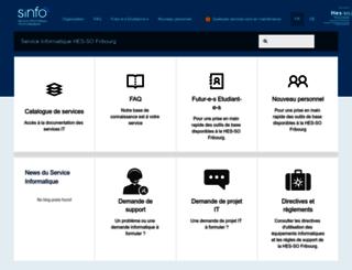 sinfo.hefr.ch screenshot