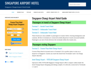 singaporeairporthotel.com screenshot