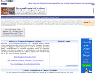 singaporerenovationportal.com screenshot