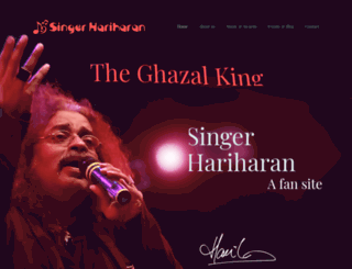 singerhariharan.com screenshot