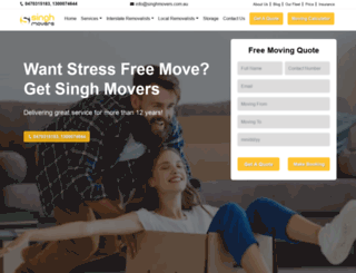 singhmovers.com.au screenshot