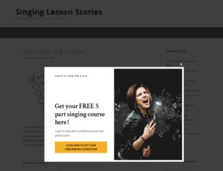 singinglessonstories.com screenshot
